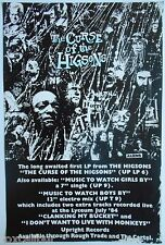 THE HIGSONS The Curse Of The Higsons Rare Original 1984 UK Record Company POSTER
