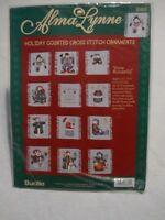 Bucilla Snow Wonderful Christmas Ornaments Lynne Counted Cross Stitch Kit 83815