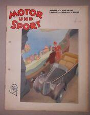 ORIG. Motor & Sport PÖSSNECK 1935-12 VICTORIA 500CCM KR8 ILSE THOURET OLDTIMER