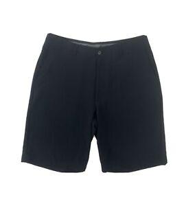 Ben Hogan Black Golf Shorts Men's 32 Flat Front Polyester Khakis