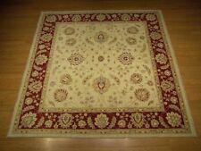 7 x 7 High Quality Handmade Afghan Ziegler Rug Veggie Dye Hand Spun Fine Wool