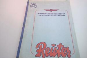 Katalog Maschinen und Werkzeuge 1941/42 Reuter Magdeburg 456 Seiten Handwerk gut