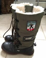 Pajar Womens Canada Olive Black Snow Boots EUR 36 US Size 4-4.5 Distressed