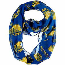 Golden State Warriors Blue Women Fashion NBA Licensed Sheer Infinity Scarf NWT