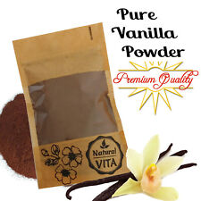 Organic Aromatic Bourbon Madagascar 100% Ground Raw Vanilla Bean Pods Powder