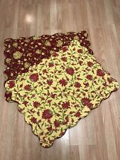2 Pottery Barn Quilted Reversible Standard Pillow Shams.