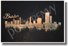 Boston - Dark - NEW U.S City Travel POSTER (tr514)