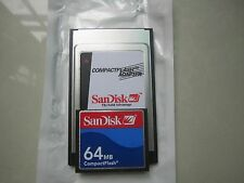 SANDISK  64MB Compact Flash +ATA PC card PCMCIA Adapter JANOME Machines