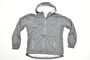 2XL,XL,L MAGELLAN packable blue or black hooded long sleeve zipper rain jacket