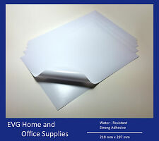 A4 White VINYL LASER GLOSSY Self Adhesive Waterproof Sticker Modeling Sheet