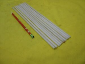 """10 pc LOT of DELRIN ROD machinable plastic round acetal bar stock 1/4"""" OD x 12"""""""
