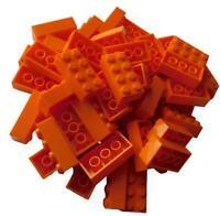 Lego 50 orange Steine 2x4 Basicsteine (3001)  Stein Neu bricks brick