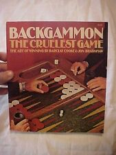 1974 Book Backgammon The Cruelest Game The Art Of Winning by Barclay Cooke