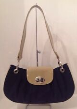 STUART WEITZMAN Navy Shoulder Bag W Patent Leather STUNNING Made In Spain