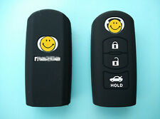 3 BUTTON MAZDA 3 2 6 SILICONE CAR SMART KEY COVER MPS SP25 CX5 CX7 CX9-black