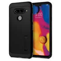 LG V40 ThinQ | Spigen® [Tough Armor] Double Layered Hybrid Shockproof Cover Case