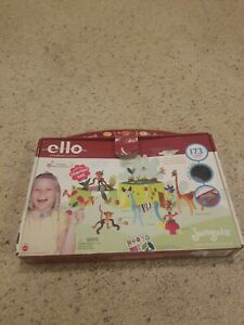 RARE 2003 ELLO CREATION SYSTEM JUNGALA 173 PIECES Used and missing 3 pieces