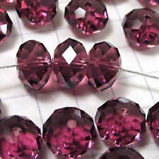 70PC jewelry faceted the Rondelle Maroon glass crystal loose beads 6X8MM