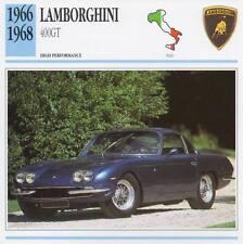 1966-1968 LAMBORGHINI 400GT Classic Car Photo/Info Maxi Card