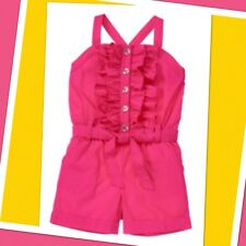 NWT 6 Gymboree STRAWBERRY SWEETHEART 1-piece Cotton ROMPER belted Cuffed Hot Pin