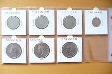 """LOT MONNAIES """" TAIWAN """" SOUS ETUIS & FEUILLE HB -SUPERBE A SAISIR ! (1/03/16)"""