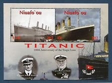 Tonga Niuafo'ou 2012 Titanic Sheets - Scott 288-89 289 - SCV $20
