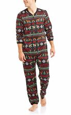 Budweiser Christmas pajamas mens medium jumpsuit ugly time for beer one piece X4