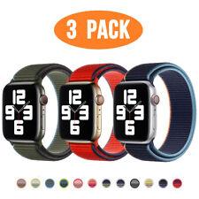 3 упаковка нейлоновый спорт петли iWatch ремешок для Apple, часы, 5, 4, 3, 2 38/42/40/44 мм