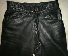 LANGLITZ 27x30 Slim Westerns Black Cowhide Leather Motorcycle PANTS! EUC $1100