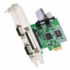Serial Parallel I/O PCI-E Card, 2 Serial RS232 DB9 & 1 Parallel LPT DB25, PCI E