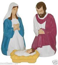 **NEW** 3 PC Nativity Set Lighted Christmas Blow Mold Mary Joseph Jesus Outdoors