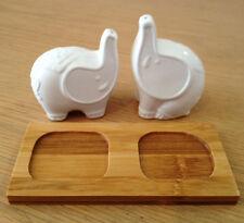 Porcelain Elephant Salt and Pepper Shaker Set (New) Animal, Homeware