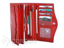 Women Wallet Leather Ladies Wallet Natural LEATHER  RED PURSES Envelope Organiz
