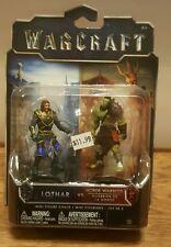 Jakks Pacific Toys  Warcraft Movie Mini Figure 2-Packs  LOTHAR  VS HORDE WARRIOR