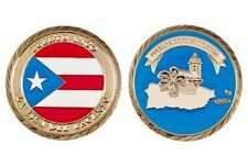 PUERTO RICO Flag ISLA DEL ENCANTO Does It Better  Medalla Militar Challenge