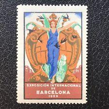 1929 - Barcelona International Exhibition Poster Stamp - ref272