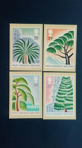 1990 150th ANNIVERSARY OF KEW GARDENS STAMPS PHQ CARDS WITH A KEW RICHMOND F.D.I