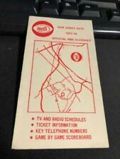 1977-78 New Jersey Nets Basketball Pocket Schedule VIP Travel Version