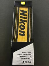 New Nikon Neck Strap Single Lens Reflex Check Yellow AN-6Y from JAPAN