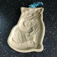 1983 Kitty Cat BROWN BAG COOKIE ART MOLD HILL DESIGN VINTAGE