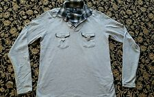silver lions Henley tshirt size  4