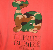 Rare THE PREPPY REDNECK T SHIRT Long Sleeve CAMO Whale PREP Camouflage MARYLAND