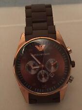 Emporio Armani AR-5905 Brown & Rose Gold Chronograph Watch