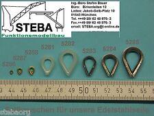 4 Stück Messing Seilkauschen 1,5mm Innen von STEBA 5287