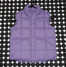 Girl's Lands' End Lavender Purple Goose Down Feather Vest Snap Button Front 5/6