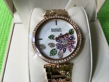 Badgley Mischka Rose Gold Tone Flower Women's Watch - New!