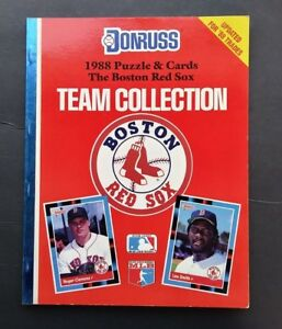 1988 RED SOX DONRUSS TEAM BOOK CLEMENS RICE BOGGS BURKS LEE SMITH MINT L@@K