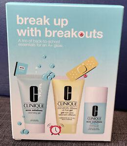 Clinique - break up with breakouts 3 piece gift set NIB #000M4
