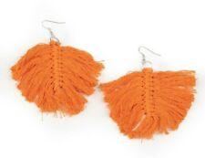 Macrame Mamba – Orange Earrings