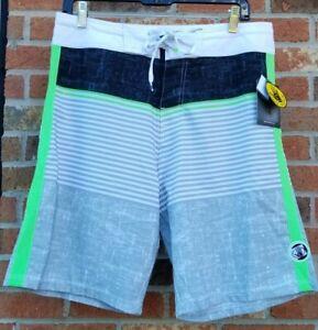 Body Glove Vapor 4 Way Stretch Water Repellent Swim Board Shorts Men's Size 32